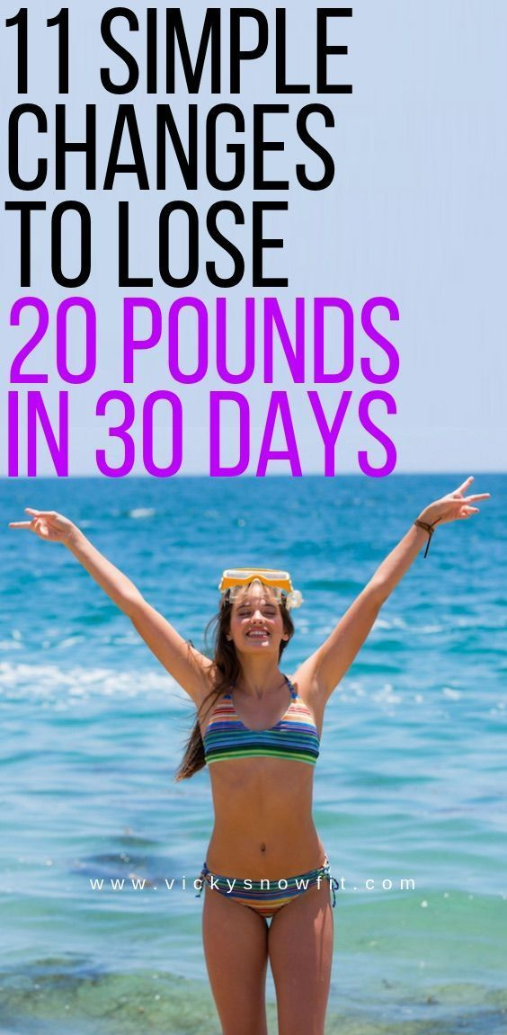 11 simple changes to lose 20 pounds in a month. – …