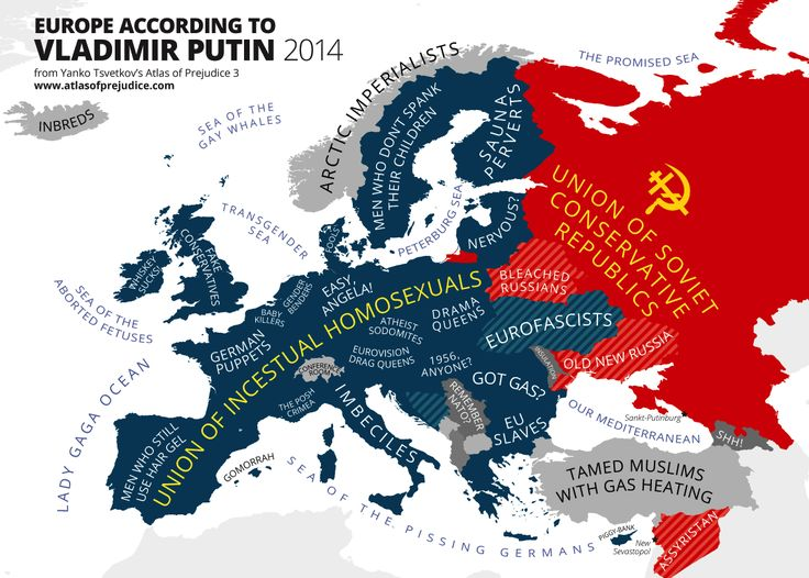 This very funny map shows what Vladimir Putin really thinks of Europe - Vox: http://www.vox.com/2014/5/5/5683458/this-satirical-map-shows-what-vladimir-putin-really-thinks-of-europe