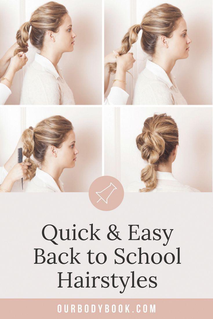 Styles de cheveux pour l'école Rapide et facile Rentrée scolaire Hacks de cheveux pour les matins occupés #backtoschool #hair #backtoschool #busy #easy -