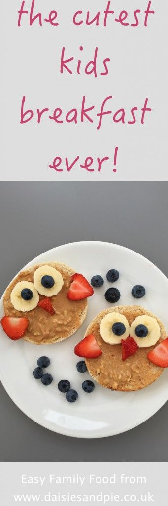My kids just love this owl toast for breakfast - it's just the cutest thing! And healthy too making it brilliant for back to school when you want them to eat up all their breakfast! | kids breakfast ideas | easy family food