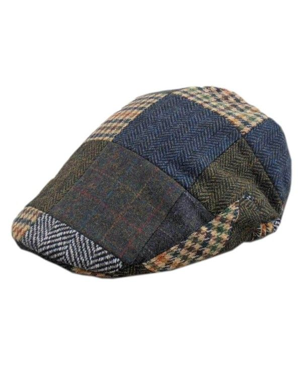 Men s Tweed Patch Cap- Authentic- Made in Ireland- Traditional Style ... bdb0a9d9ee0