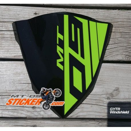 Yamaha mt 09 gytr windscreen sticker 08