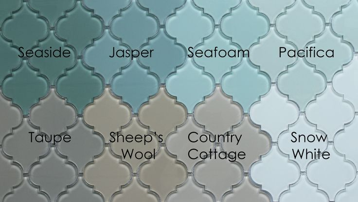 Pacifica Arabesque Glass Mosaic Tiles | Rocky Point Tile - Glass ...