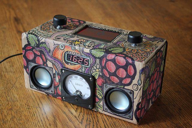 Cardboard Raspberry Pi wifi internet radio   Flickr - Photo Sharing!