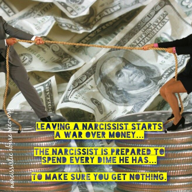 Narcissists are notorious for financial abuse. The narcissist will deplete funds to make sure you have none........