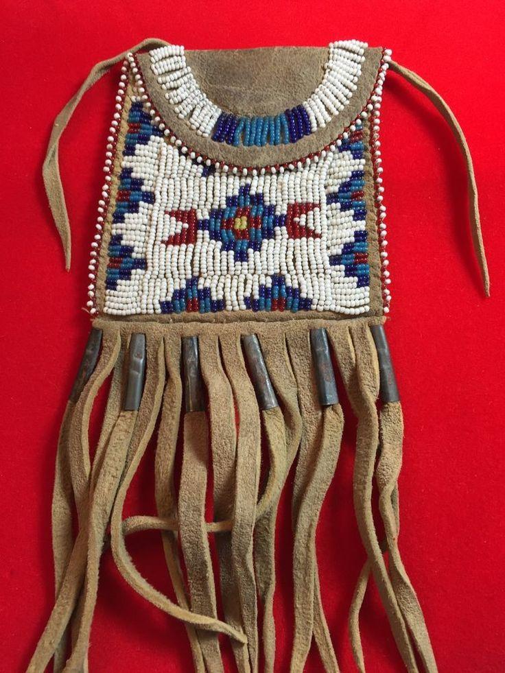 Medicine Bag Beaded Indian Native American