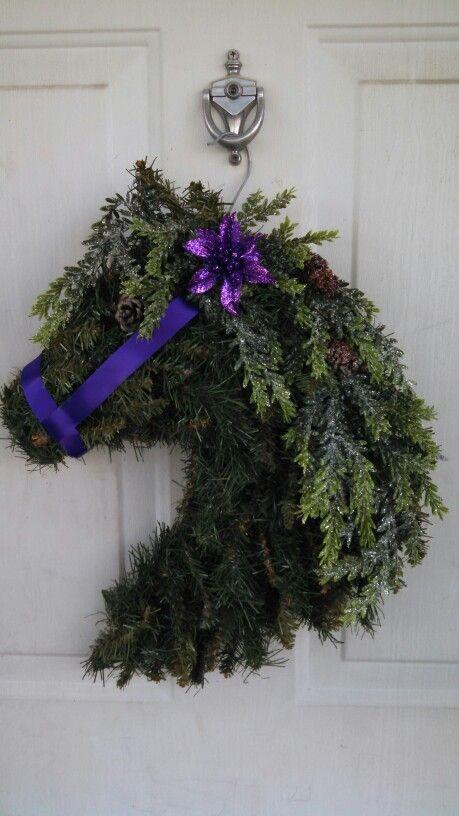 25  best ideas about horse head wreath on pinterest