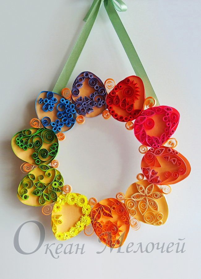 Easter wreath quilled