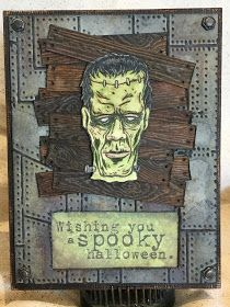Plays Well With Paper: Frankenstein Spooky Halloween