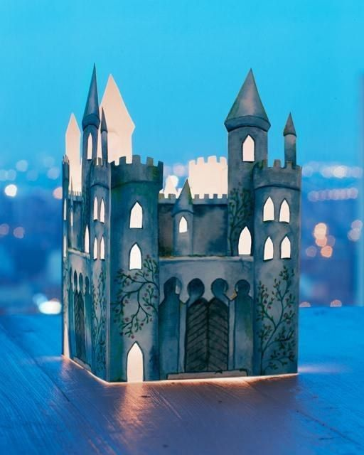 Create a glowing castle lantern to use as a nightlight.