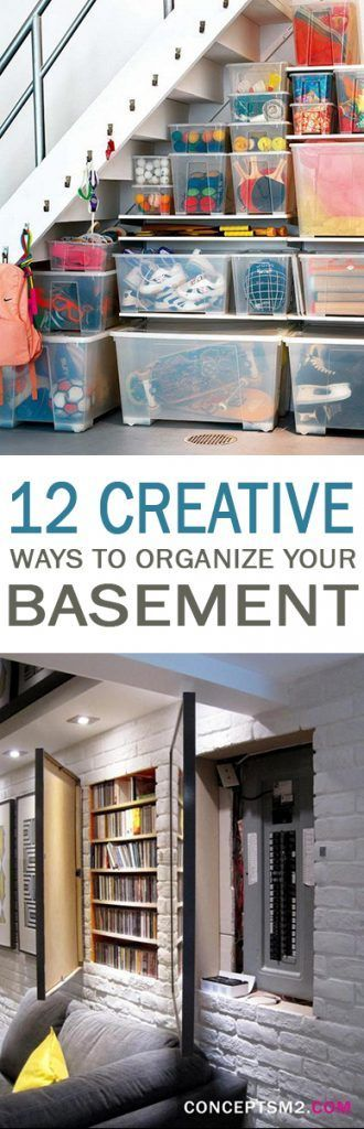 best 25 organized basement ideas on pinterest storage room garage storage shelves and. Black Bedroom Furniture Sets. Home Design Ideas