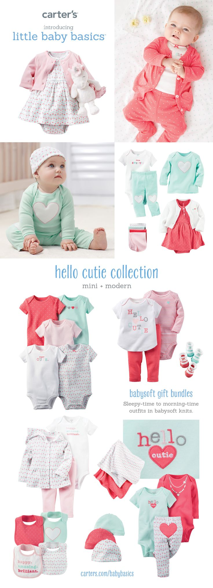 Perfect baby girl gift + must-have bodysuits + easy outfit sets. Shop all the latest styles at carters.com.