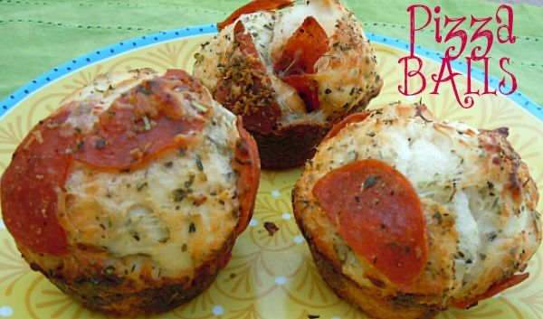 Easy Pepperoni Pizza Balls-These were a good quick last minute dinner.  Kids loved it,  next time I will put meat on as a topper instead or mixed in.  Don't put in paper muffin cups, bad hubby idea.