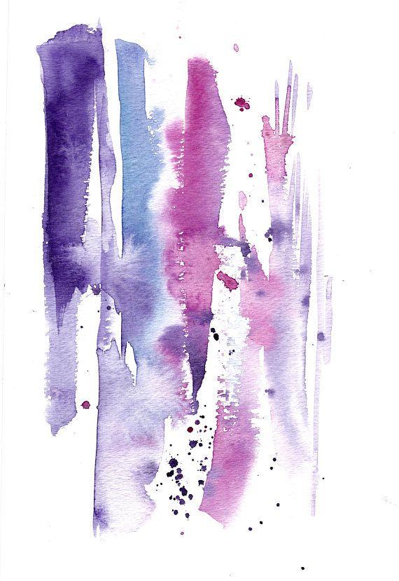 Abstrakte Original Aquarell Malerei Abstrakte Realismus Rosa