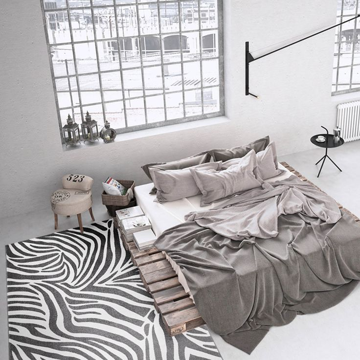 Zebra Rugs feature a stylish Zebra design in grey and white which will bring a touch of Safari to your room.