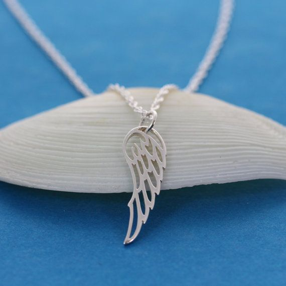 Angel Wing Necklace Sterling Silver Angel Wing Necklace by MonyArt, $26.80