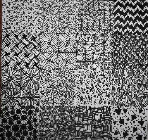 Zentangle Patterns - Inspired by Pinterest