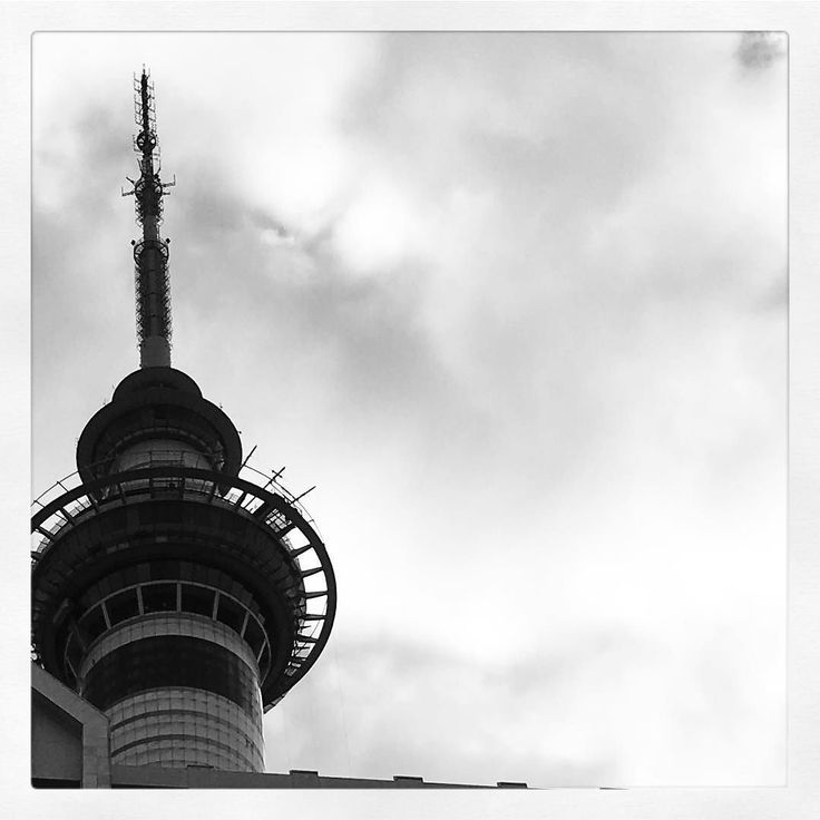 When I looked up to the sky I was overwhelmed by how close to the the #SkyTower I had parked. #Auckland #Ciy
