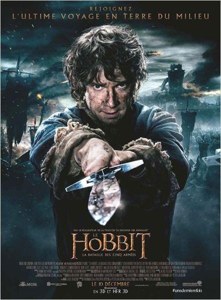 Le Hobbit 3 2014 Fantasique, aventure La Bataille des Cinq Armées, 3ème volet de la saga du hobbit de Peter Jackson, tiré du livre de Tolkien, auteur du seigneur des anneaux
