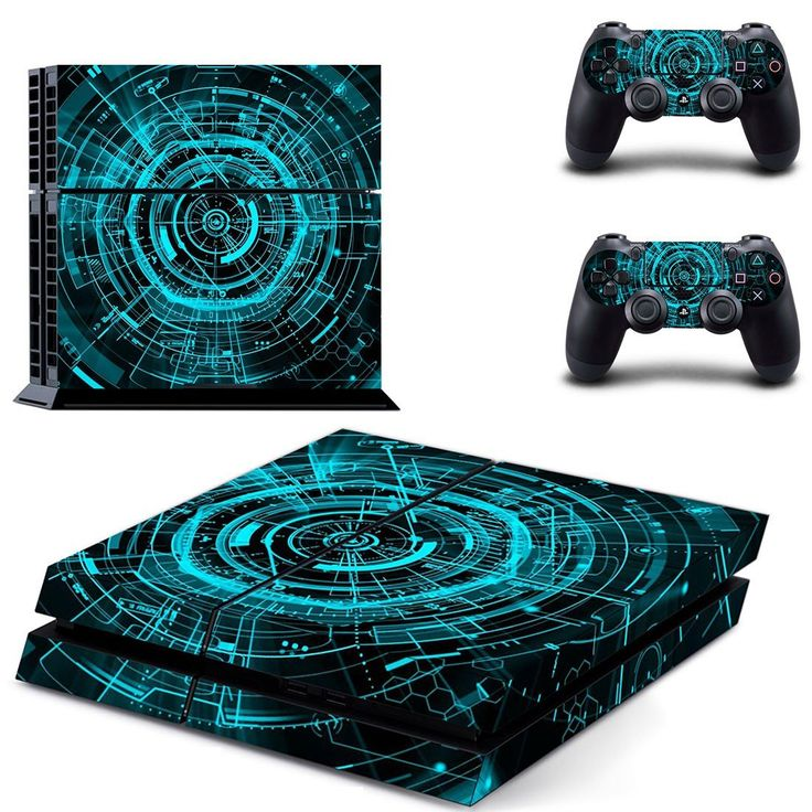 Technology wallpaper ps4 skin decal for console and 2 controllers
