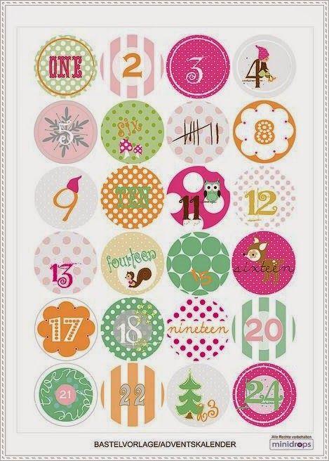 [DIY Noël] Inspirations #1 : des etiquettes, calendriers de l'avent et illustrations à imprimer ♡