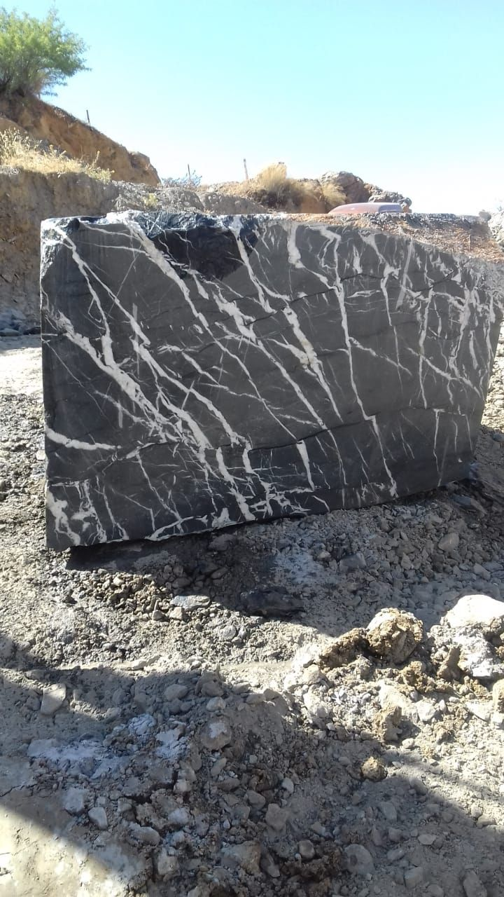 Black Marquina Marble Natural Blocks Marble Block Stone Blocks Granite Blocks