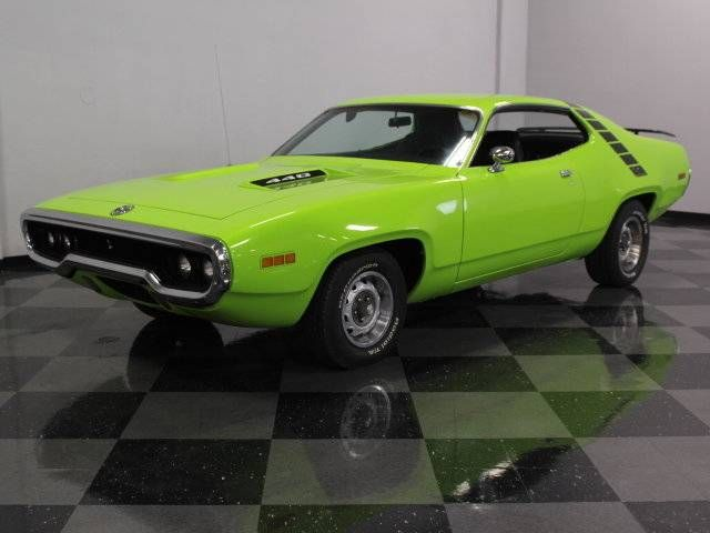 1971 Plymouth Road Runner Hardtop. Sassy Grass. 440 In A 383 Car. $38