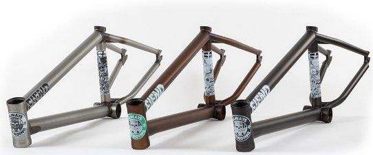 Fiend BMX Frame. Without a doubt the most vital part of a BMX bike. Many people don't realise but hundreds of BMX frames are released every year in every colour, from matt black to oil slick, and in many different materials. Professional riders love to create a signature frame. This list is definitely not a full list of every BMX frame or signature BMX frame made in 2016, although it's some of the most popular and also my favourite frames of the past year.