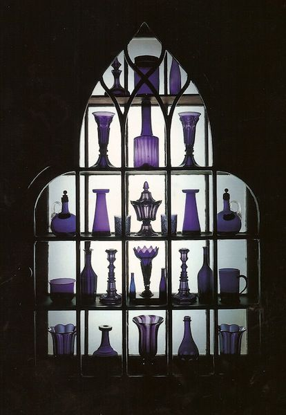Beauport, purple glass; photo from Historic New England website.