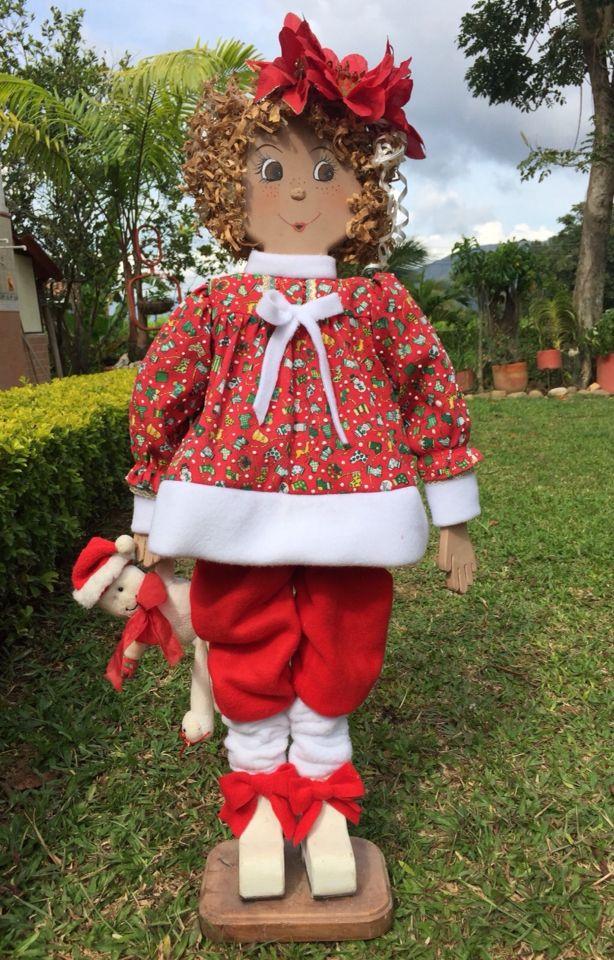 Muñeca country navideña