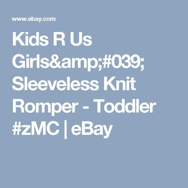 Kids R Us Girls' Sleeveless Knit Romper - Toddler #zMC    eBay