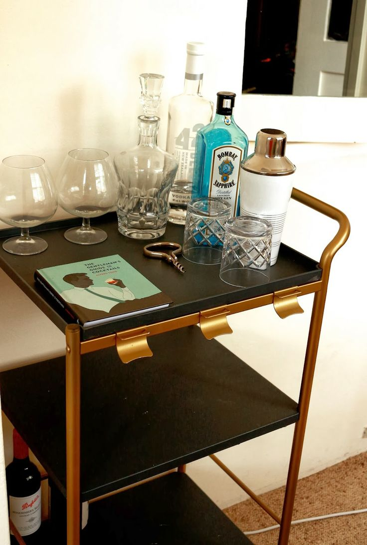 87 best Bar Cart images on Pinterest | Apartment therapy, Bar ...
