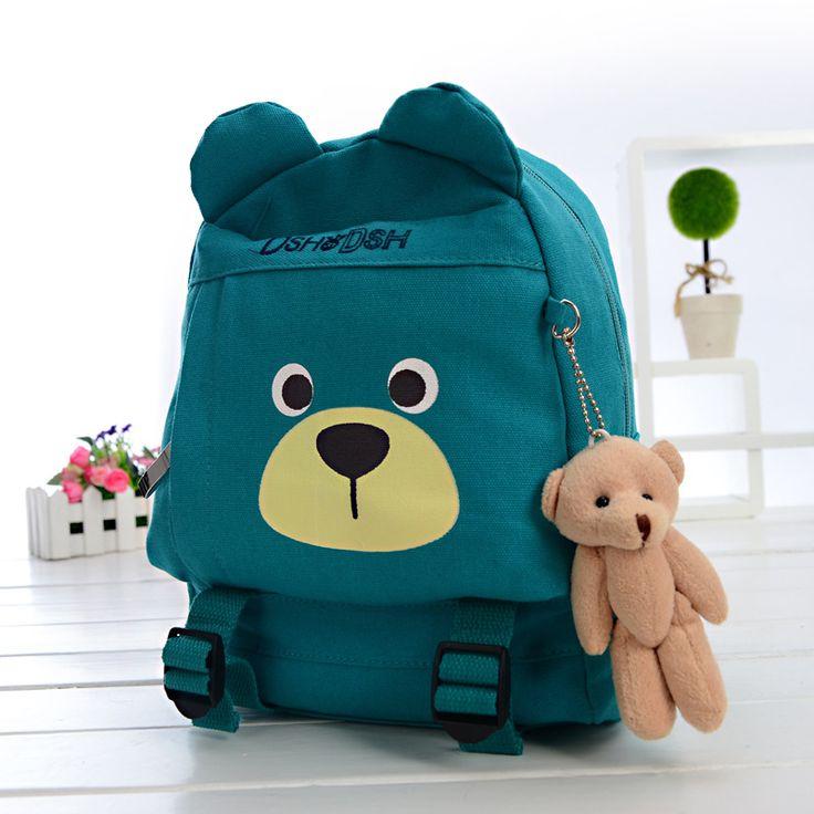 Детский маленький рюкзак мальчики девочки холст сумка мультфильм животных рюкзак детский маленький рюкзак Хан издание мешок почты написали. ком день кота