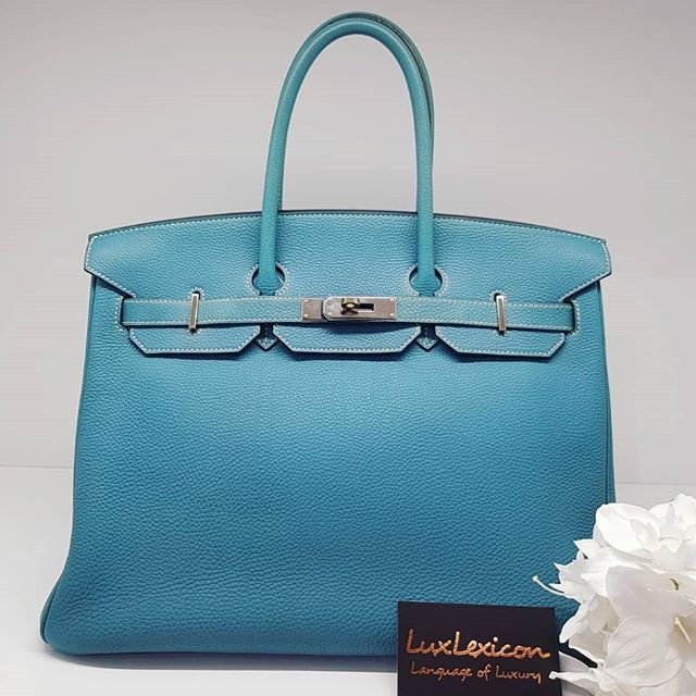 8500 Wire Preloved Blue Jean Togo Birkin 35 Phw M Stamp Full Set No Box And Receipt Available In Store Birkin Bags Togo