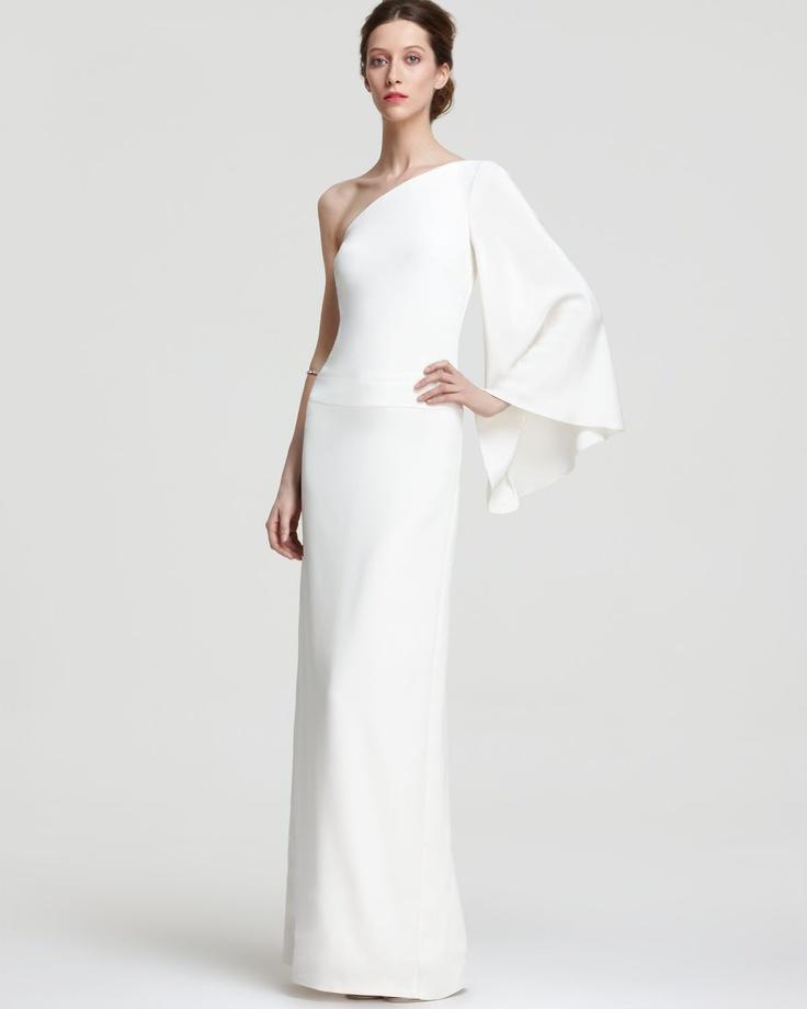 Nicole Miller One Shoulder Gown - Kimono Sleeve | Bloomingdale's