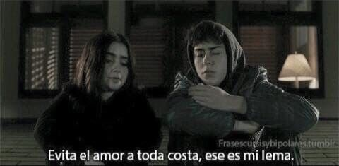Stuck in love spanish quotation about avoiding love ! Samantha ..