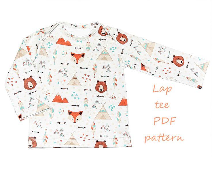 Baby shirt pattern pdf, lap tee pattern, boys shirt pattern, girls shirt pattern, baby sewing patterns door MadeByMePatterns op Etsy https://www.etsy.com/nl/listing/486060505/baby-shirt-pattern-pdf-lap-tee-pattern