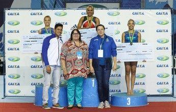 Com dois ouros cada, Caio Souza e Rebeca Andrade brilham no Brasileiro