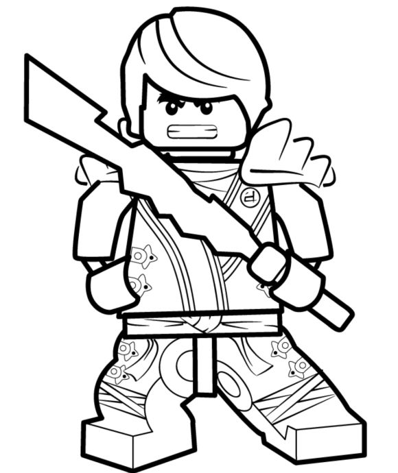Lego ninjago coloring pages for boys