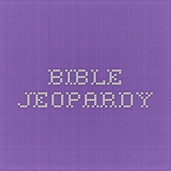 174 best Sunday School Games images on Pinterest Sunday school - sample jeopardy powerpoint