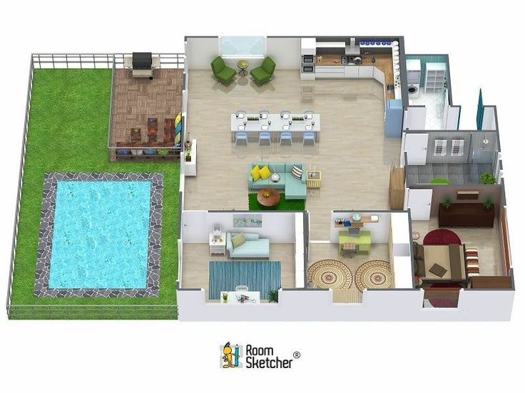 One Bedroom House Smallest Small Houses Projects Interior Design Software Floor Plans Aerial View Pool Designs Its Easy