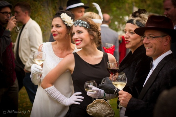 Gatsby inspired events go great with Breathless bubbly.