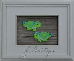 Sea Turtle Hair Clips - hc045 -$5.00 for pair available on jLj Bowtique