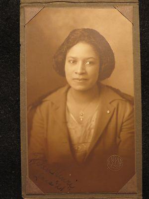 1921 Cabinet Photo CDV Black African American Beautiful Woman Love Story Romance | eBay