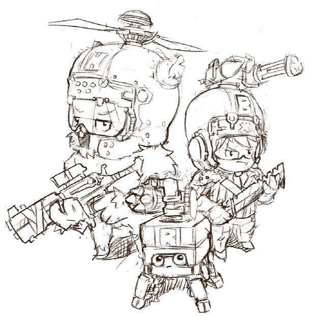 Yionguon's Sketch works Earth Defence Force