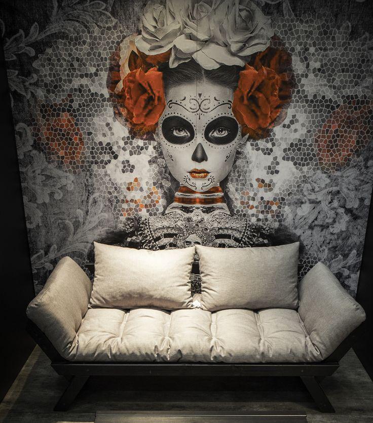 Divano Letto Futon Bebop in legno nero con futon colorazione Vision #SylviaJi #design #style #arredamento #salotto #art