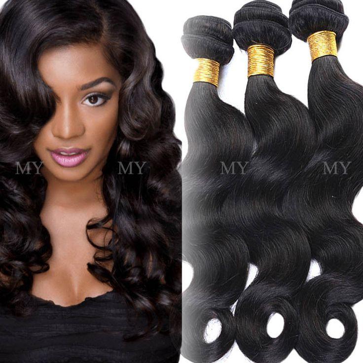 300g Soft 3 Bundles Unprocessed 7A Virgin Human Hair Brazilian Weave Extensions #Virgin #HairExtension