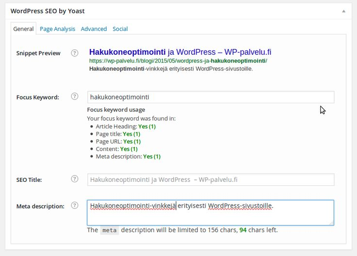 Hakukoneoptimointi ja WordPress https://wp-palvelu.fi/blogi/hakukoneoptimointi/