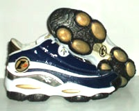 Will remember these awesome/bizarre shoes for so many reasons: 1) Inventive, ultimately flawed technology (who knew putting basketball players on little unbalanced pods of gel was a bad idea?!), 2) The year Reebok tried to change the name of AI's line to 'The Answer' from 'The Question', and 3) This blue patent leather color I picked up from Taiwan before US availability.