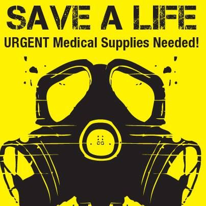 22 August 2013.   The Poisonous gas has massacred hundreds in Syria, many of whom are innocent young children. Medics on the ground are having difficulty to help the survivors due to shortages of medical supplies. We are delivering a medical convoy and need all the help we can get.